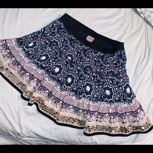 Free People Floral Sequin Skirt